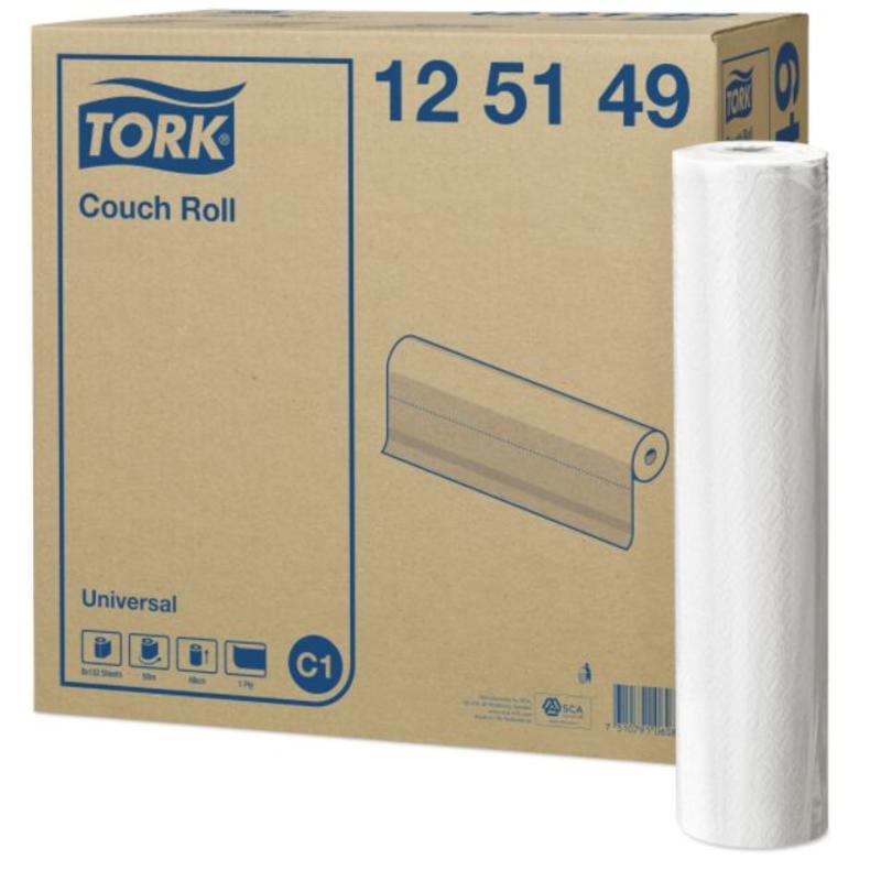 Tork Onderzoekstafelrol 1-laags Wit 49 cm C1
