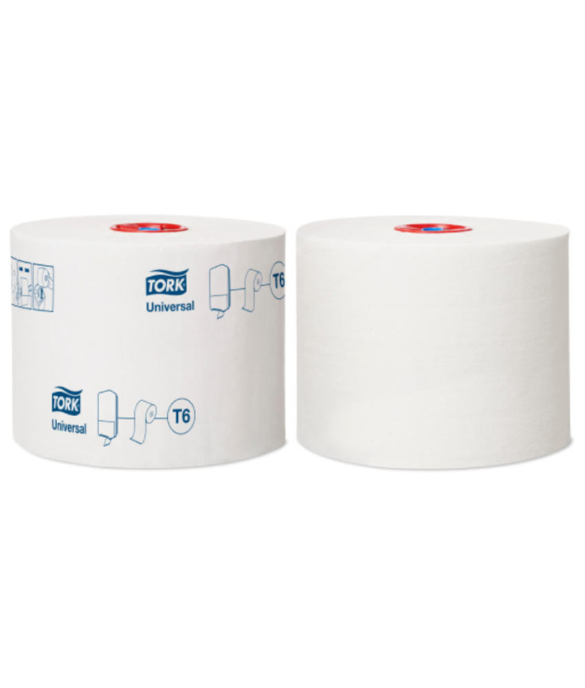 Tork Mid-size Toiletpapier 1-laags Wit T6 Universal