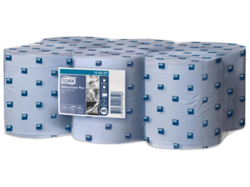 Tork Tork Wiping Plus Centerfeed Poetspapier 2-laags Blauw M2