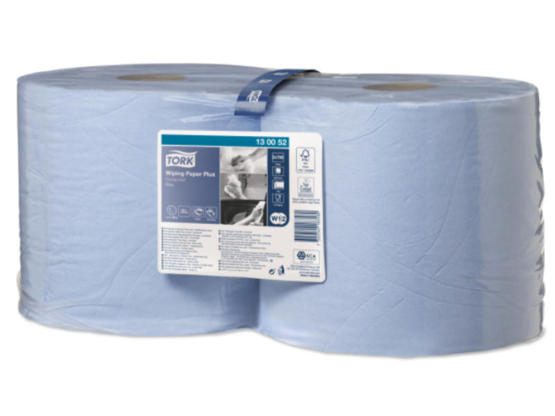 Tork Tork Wiping Plus Combi Rol Poetspapier 2-laags Blauw W1/W2