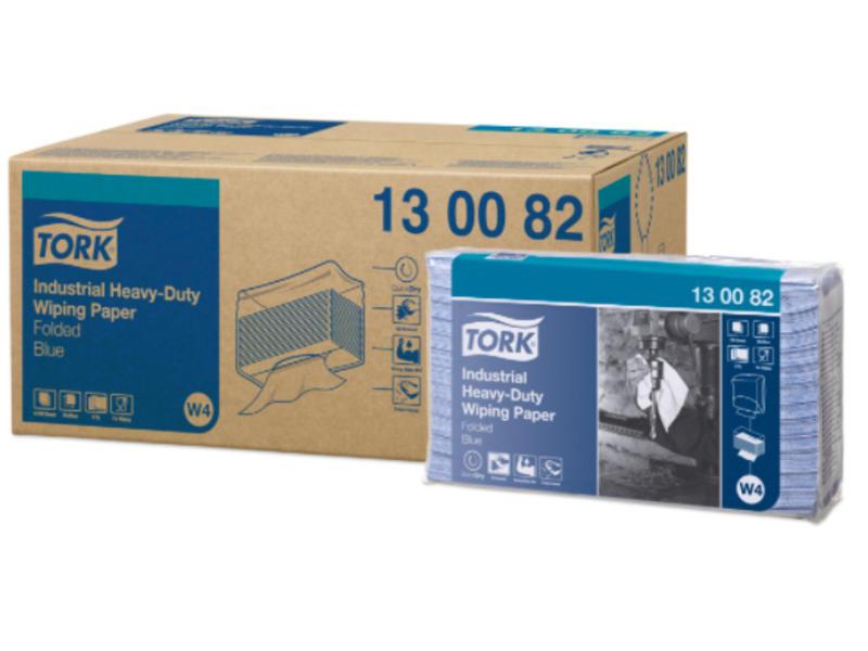 Tork Tork Industrial Heavy-Duty Gevouwen Poetspapier 3-laags Blauw W4