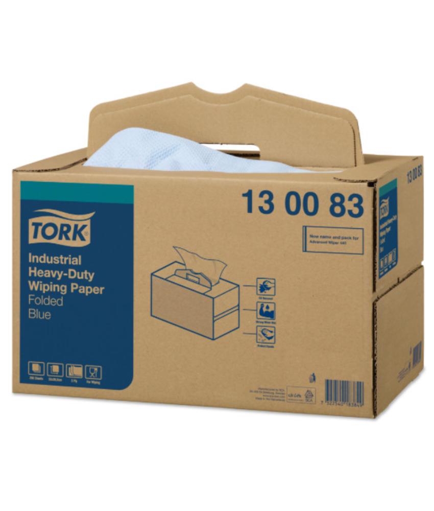 Tork Industrial Heavy-Duty Poetspapier Handy Box 3-laags Blauw W7