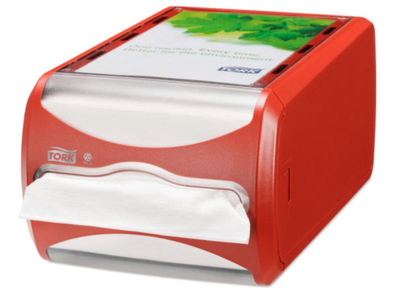 Tork Tork Xpressnap® Counter servetdispenser rood (N4)