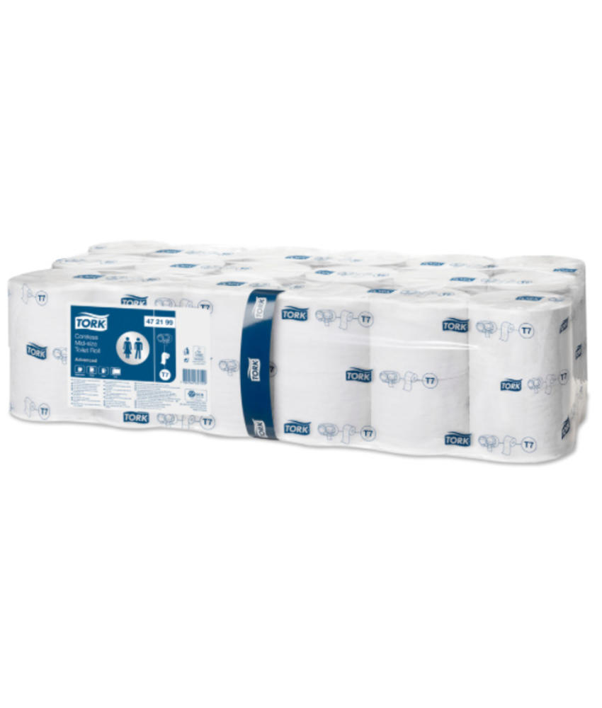 Tork Hulsloos Mid-size Toiletpapier 2-laags Wit T7 Advanced