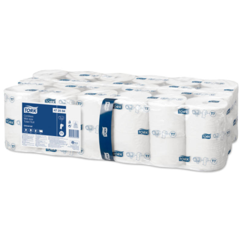 Tork Hulsloos Mid-size Toiletpapier 1-laags Wit T7 Universal