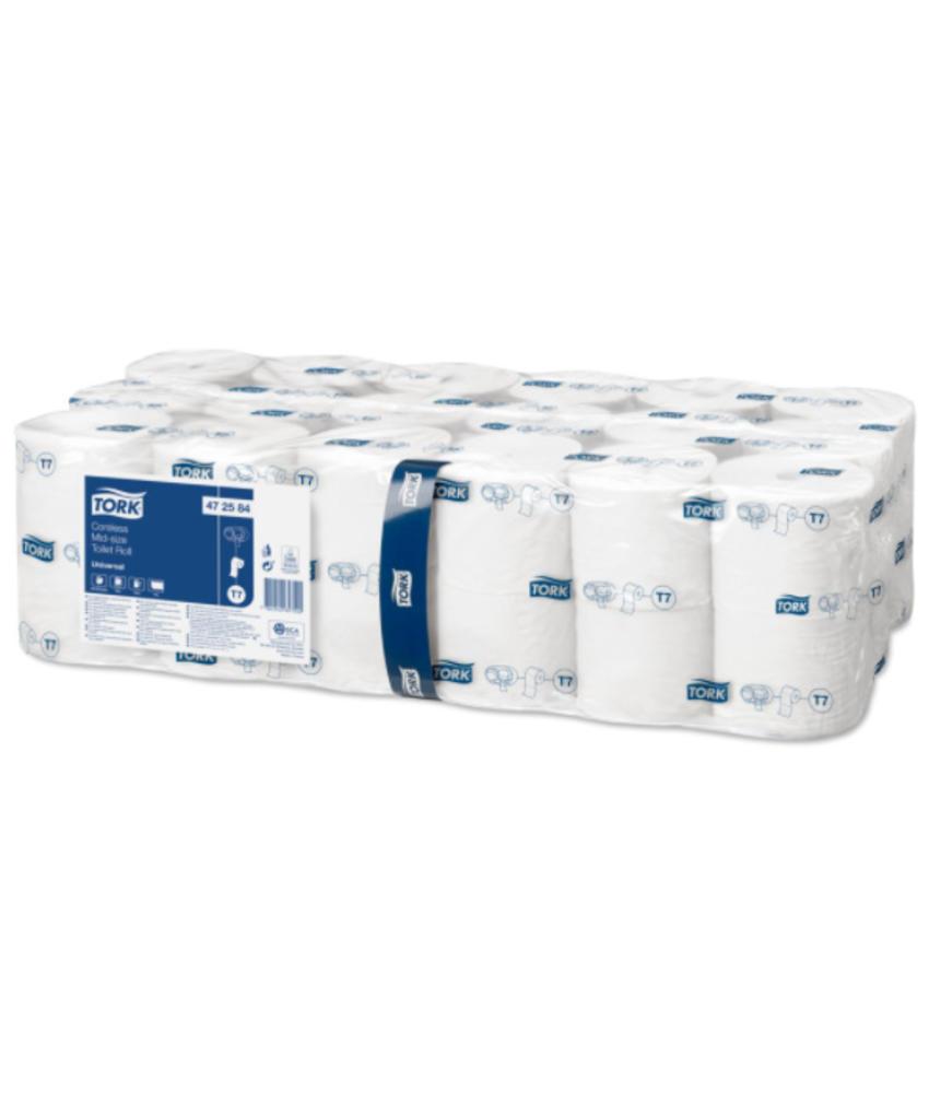 Tork Hulsloos Mid-size Toiletpapier 1-laags Wit T7 Universal