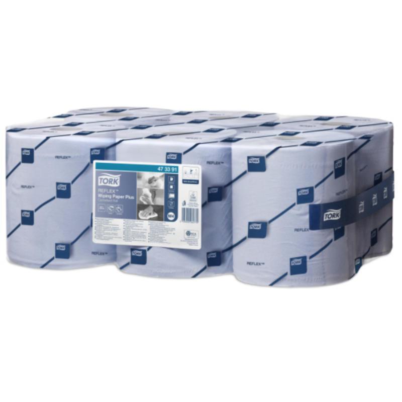 Tork Reflex® Wiping Plus Centerfeed Poetspapier 2-laags Blauw M4