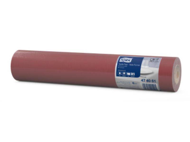 Tork Tork textile feel tafelloper burgundy 0,4x12m x20 4r