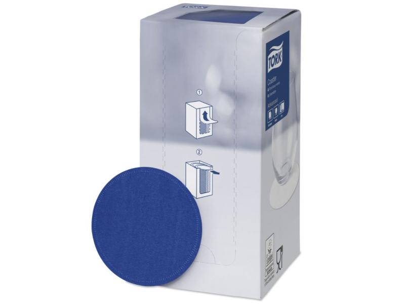 Tork Tork onderzetter 8-laags Ø9cm midnight blue 12x250