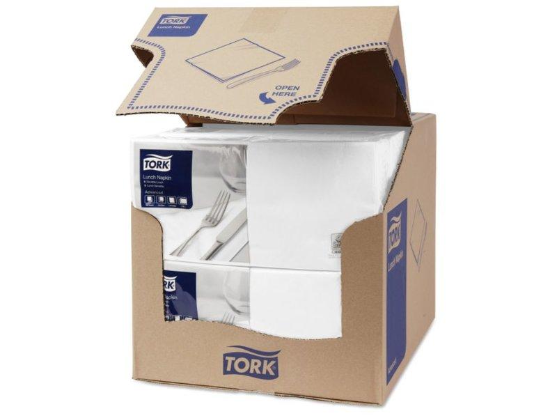 Tork Tork tissue servet 33x33cm 2-laags 1/4-vouw wit 10x200