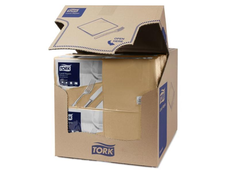Tork Tork tissue servet 33x33cm 2-laags 1/4-vouw biscuit 10x200