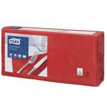 Tork Tork tissue servet 33x33cm 2-laags 1/4-vouw rood 10x200