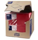 Tork Tork tissue servet 33x33cm 3-laags 1/4-vouw burgundy 10x150
