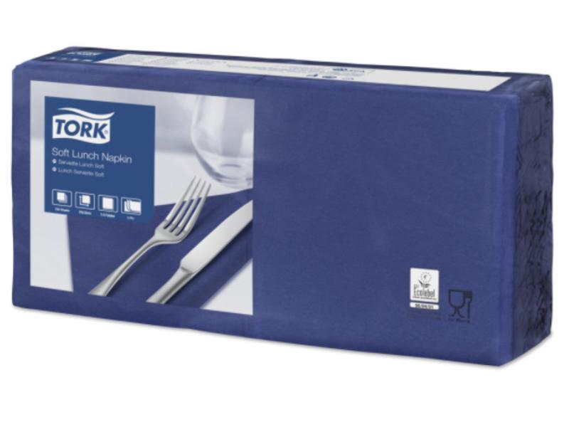 Tork Tork tissue servet 33x33cm 3-laags 1/4-vouw midnight blue 10x150