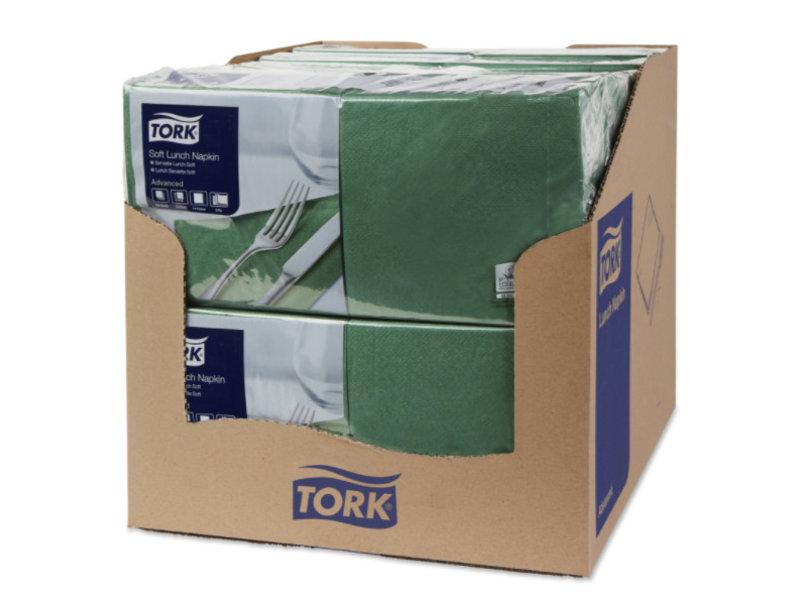 Tork Tork tissue servet 33x33cm 3-laags 1/4-vouw mountain pine green 10x150