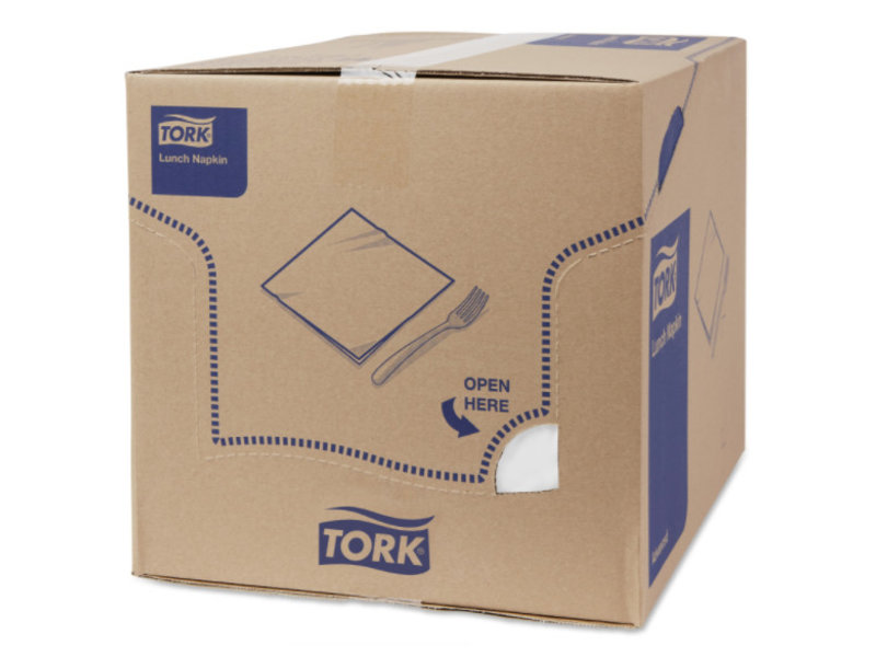 Tork Tork tissue servet 33x33cm 3-laags 1/4-vouw wit 10x150