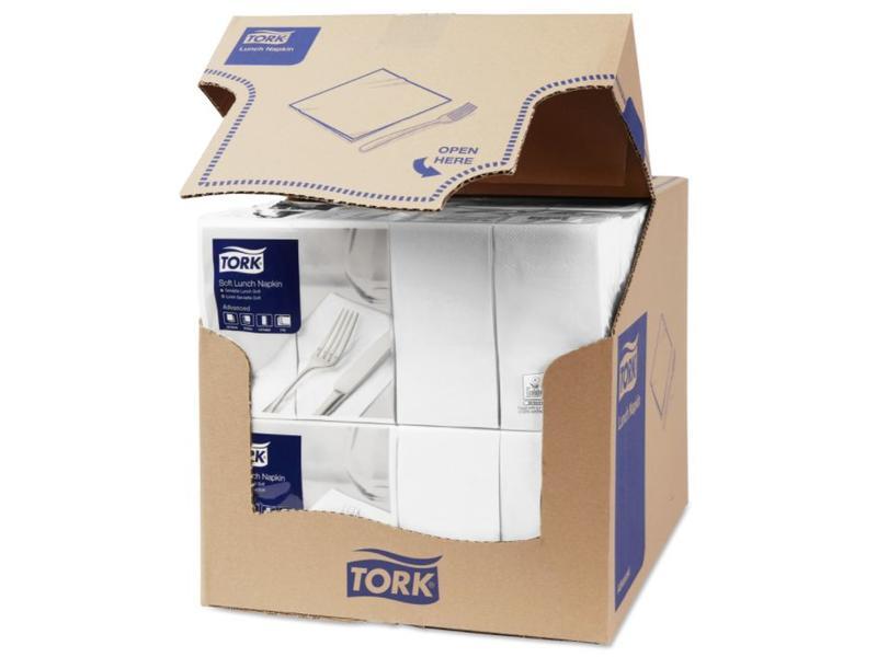 Tork Tork tissue servet 33x33cm 3-laags 1/8-vouw wit 10x150