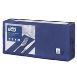 Tork Tork tissue servet 33x33cm 3-laags 1/8-vouw midnight blue 10x150