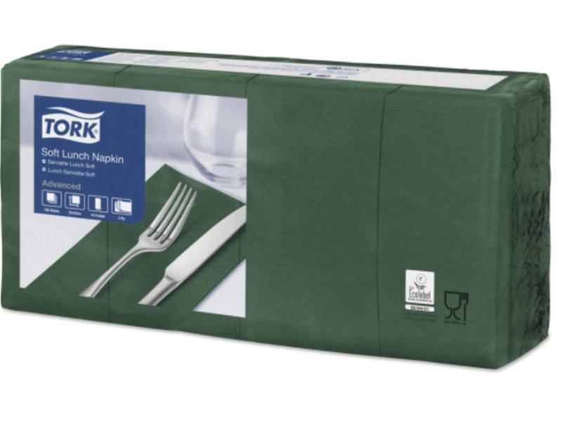 Tork Tork tissue servet 33x33cm 3-laags 1/8-vouw mountain pine green 10x150