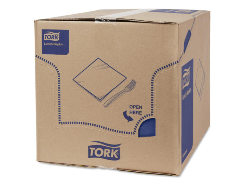 Tork Tork tissue servet 33x33cm 2-laags 1/8-vouw midnight blue 10x200