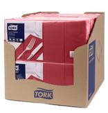 Tork Tork tissue servet 33x33cm 2-laags 1/8-vouw burgundy 10x200