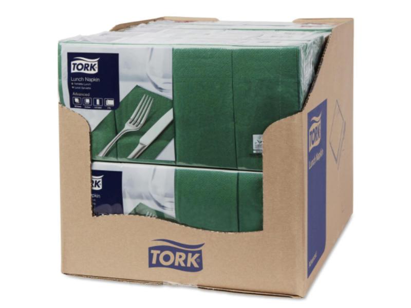 Tork Tork tissue servet 33x33cm 2-laags 1/8-vouw mountain pine green 10x200
