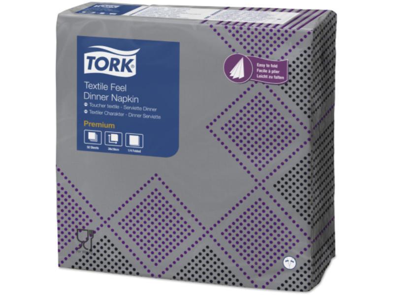 Tork Tork LinStyle® servet 40x40cm 1/4-vouw Industrial Oxford 12x50