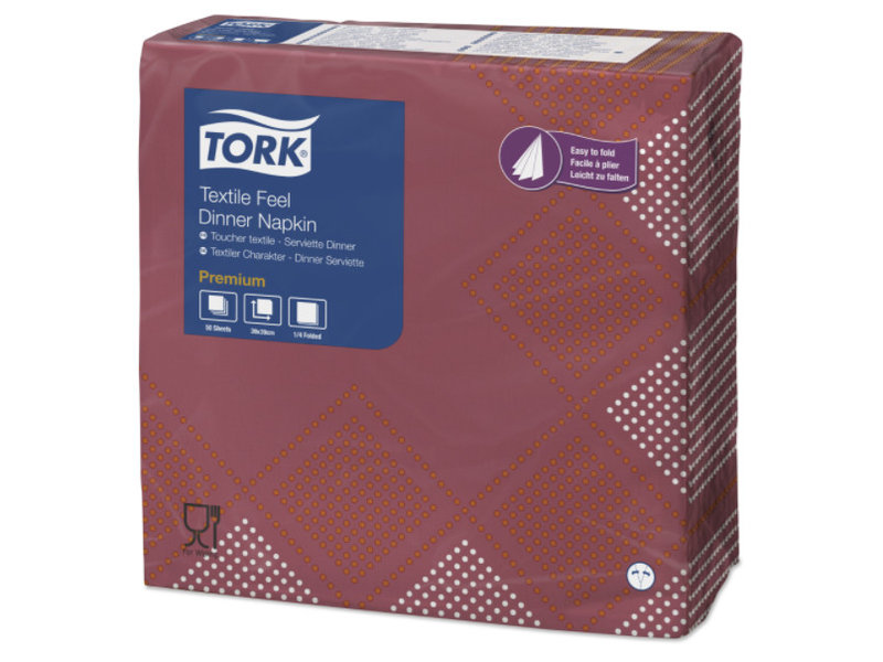 Tork Tork LinStyle® servet 40x40cm 1/4-vouw Retro Oxford 12x50