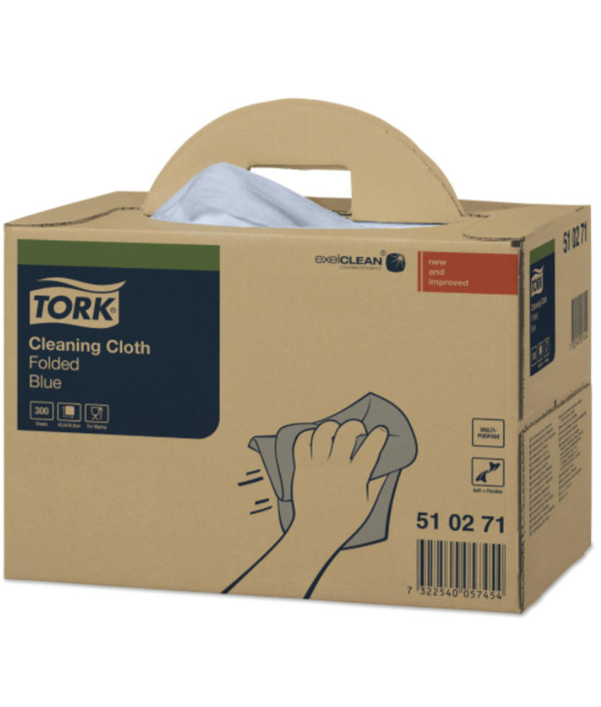 Tork Cleaning Handy Box Reinigingsdoek Blauw W7
