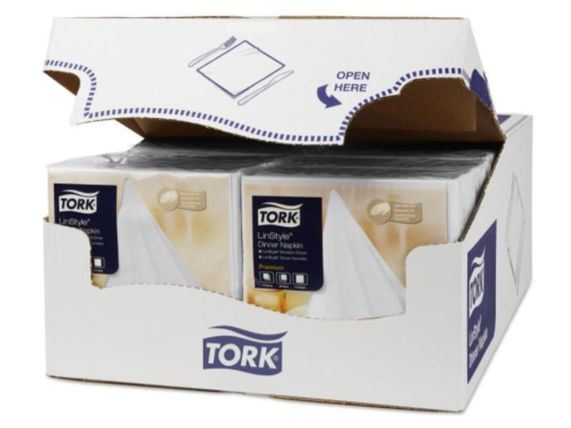 Tork Tork LinStyle® servet 39x39cm 1/4-vouw wit 12x50