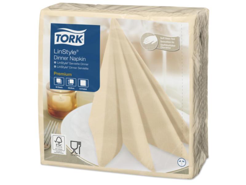 Tork Tork LinStyle® servet 39x39cm 1/4-vouw cream 12x50