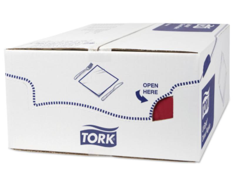 Tork Tork LinStyle® servet 39x39cm 1/4-vouw burgundy 12x50