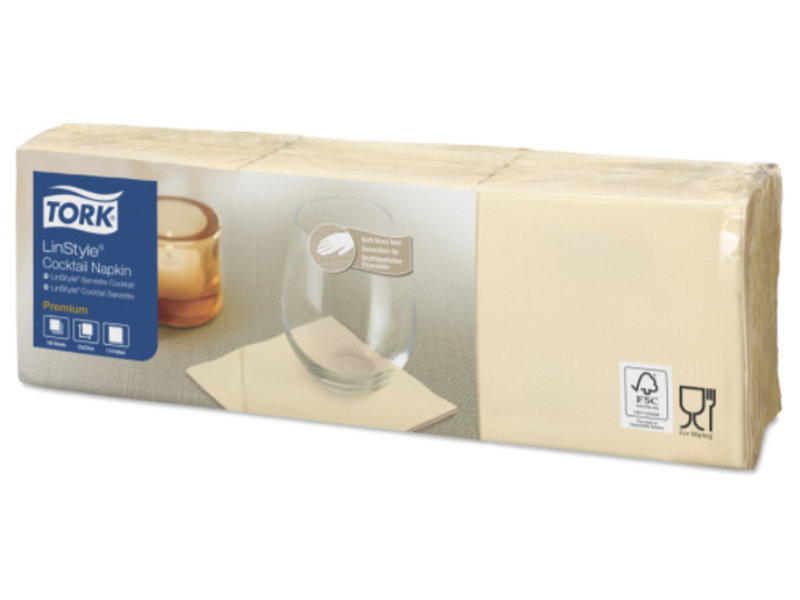 Tork Tork LinStyle® servet 23x23cm 1/4-vouw cream 10x150