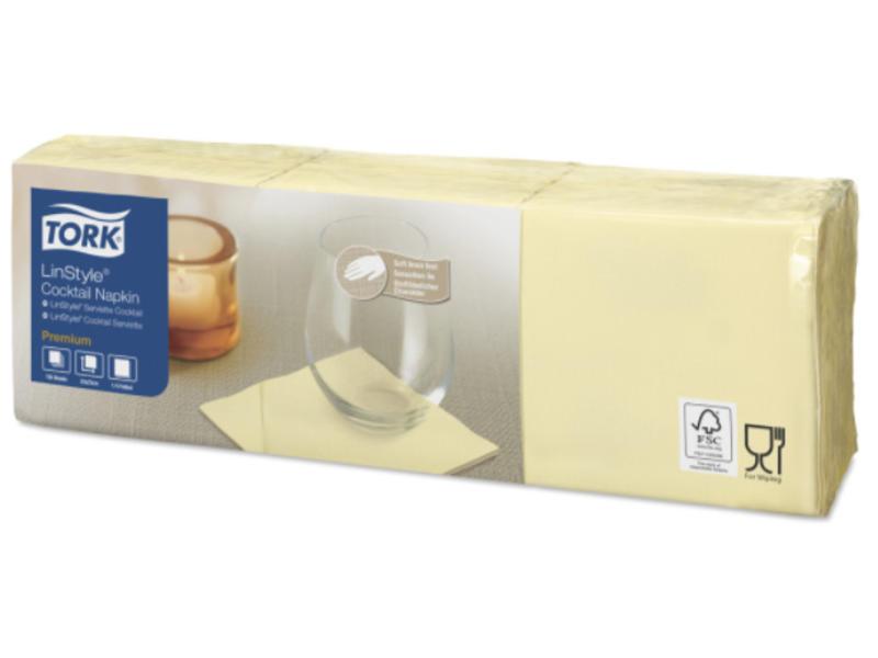 Tork Tork LinStyle® servet 23x23cm 1/4-vouw champagne 10x150