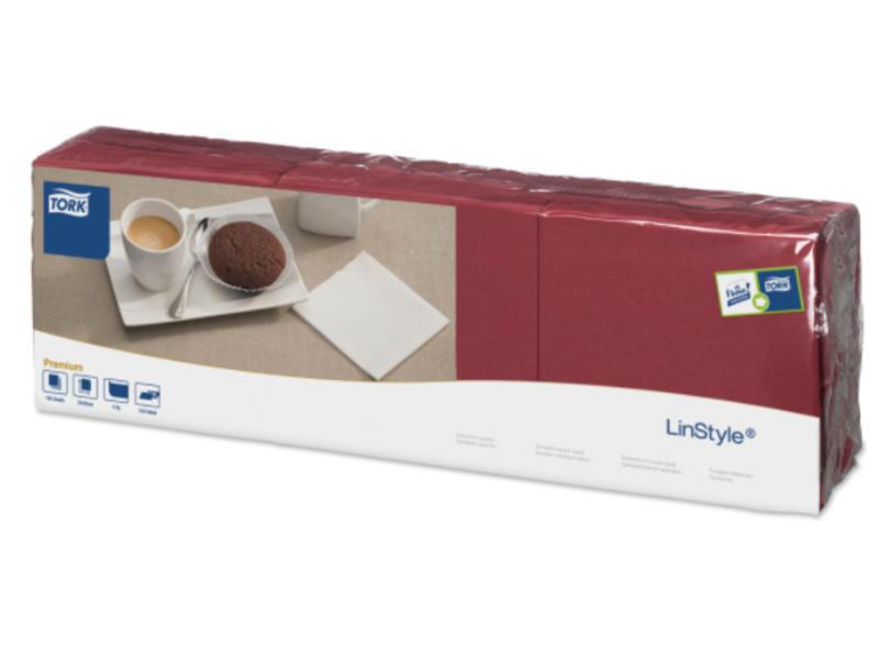Tork Tork LinStyle® servet 23x23cm 1/4-vouw burgundy 10x150