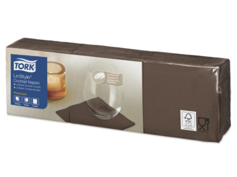 Tork Tork LinStyle® servet 23x23cm 1/4-vouw cocoa 10x150