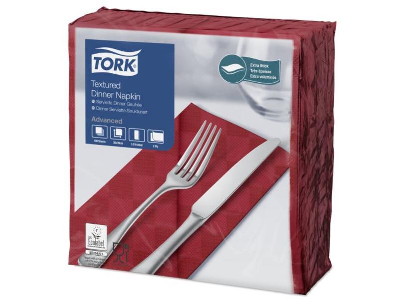 Tork Tork NexxStyle® servet 38x39cm 2-laags 1/8-vouw burgundy 12x100