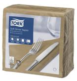 Tork Tork tissue servet 39x39cm 3-laags 1/4-vouw biscuit 12x100