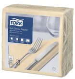 Tork Tork tissue servet 39x39cm 3-laags 1/4-vouw cream 12x100