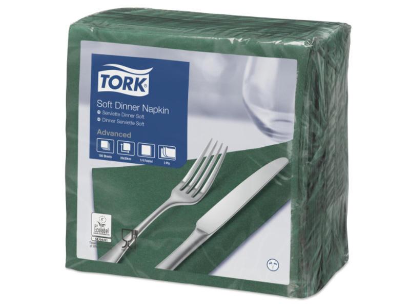 Tork Tork tissue servet 39x39cm 3-laags 1/4-vouw mountain pine green 12x100