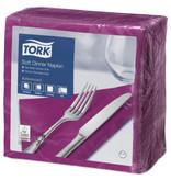 Tork Tork tissue servet 39x39cm 3-laags 1/4-vouw plum 12x100