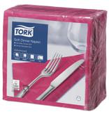 Tork Tork tissue servet 39x39cm 3-laags 1/4-vouw fuchsia 12x100