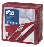 Tork Tork tissue servet 39x39cm 3-laags 1/4-vouw burgundy 12x100