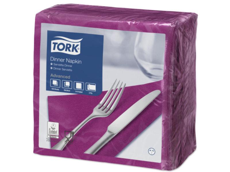 Tork Tork tissue servet 39x39cm 2-laags 1/4-vouw plum 12x150