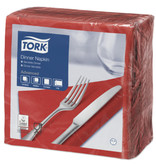 Tork Tork tissue servet 39x39cm 2-laags 1/4-vouw rood 12x150