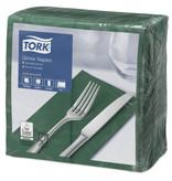 Tork Tork tissue servet 39x39cm 2-laags 1/8-vouw mountain pine green 12x150