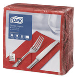 Tork Tork tissue servet 39x39cm 2-laags 1/8-vouw rood 12x150