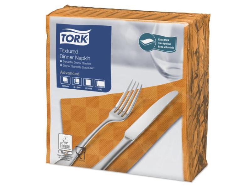 Tork Tork NexxStyle® servet 38x39cm 2-laags 1/4-vouw orange 18x50
