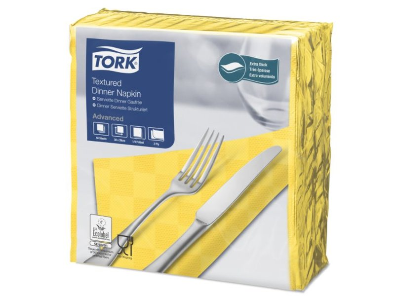 Tork Tork NexxStyle® servet 38x39cm 2-laags 1/4-vouw passion yellow 18x50
