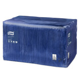 Tork Tork tissue servet 33x33cm 1-laags 1/4-vouw midnight blue 9x500